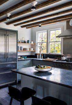 Kitchen Remodel Ideas Original beams plus our Hannah sconces equals farmhouse kitchen perfection. Photo by via Modern Farmhouse Kitchens, Rustic Kitchen, Diy Kitchen, Home Kitchens, Kitchen Dining, Kitchen Decor, Kitchen Ideas, Awesome Kitchen, Kitchen Modern
