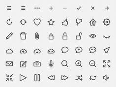 hicons - free outline #icons  by Vlad Chernushevich