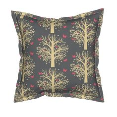 Serama Throw Pillow featuring The Butterfly Tree by thepinkhome | Roostery Home…