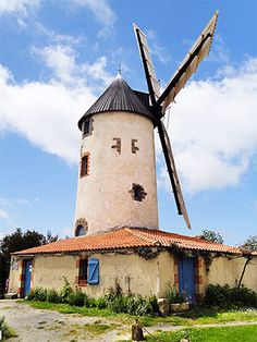 Moulin à Vent de Rairé -  Sallertaine -  Vendée dept. - Pays de la Loire région, France