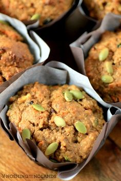 Sneak a serving of #veggies into #breakfast with these Zucchini Carrot Breakfast Muffins!