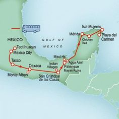 Here you can see where the silver mining town of Taxco is along with the ruins of Teotihuacan.