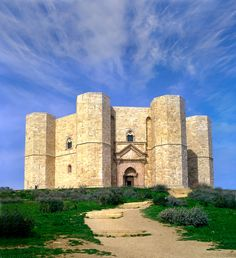 Castel del Monte, 60 km (37 mi) from Bari, is one of the 47 UNESCO World Heritage Sites in Italy.  Commissioned by Frederick II of Swabia in the 13th Century, the Castle is a massive and dominating octagonal structure that sits on a small stretch of the Murge plateau in Apulia, 18 km (11 mi) from Andria.