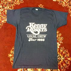 "21 Likes, 1 Comments - Tommy Burns (@207thrift) on Instagram: ""Vintage Kenny Rogers Local Crew Tour 1985 T-shirt made by Screen Stars- tagged large, fits smaller.…"""