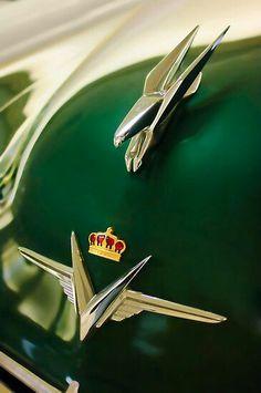 "1954 Chrysler Imperial "" Eagle "" Hood Ornament with Crown Emblem"