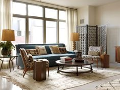 Modern room curtains image of mid century modern living room Mid Century Modern Rugs, Mid Century Modern Living Room, Living Room Modern, Rugs In Living Room, Living Room Designs, Living Room Decor, Room Rugs, Modern Decor, Mid-century Modern