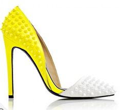 KANDEE SHOES LEMON WHITE