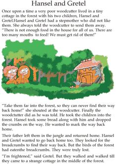 Grade 2 Reading Lesson 11 Fairy Tales Hansel And Gretel 1 Stories With Moral Lessons, English Moral Stories, Short Moral Stories, English Stories For Kids, Moral Stories For Kids, Learning English For Kids, Short Stories For Kids, English Story, Reading Stories
