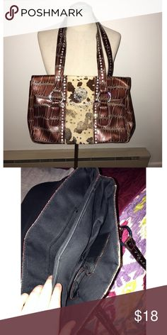 Western Purse Pretty rhinestone western purse in good used condition missing one or two stones Boutique Bags Shoulder Bags