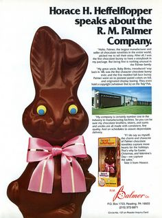 Palmer - Horace H Heffelflopper - Easter candy trade ad - Candy Marketer magazine - 1984 by JasonLiebig, via Flickr