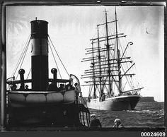 Four-masted barque MAGDELENE VINNEN leaving Sydney Harbour, 29 March 1933 | Flickr - Photo Sharing!
