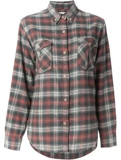 'Green cotton-wool blend 'Vadisse' checked shirt from Isabel Marant�toile.' www.sellektor.com