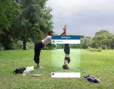 Pin for Later: These Photos Shows Just How Much We All Lie on Instagram Yoga Handstand