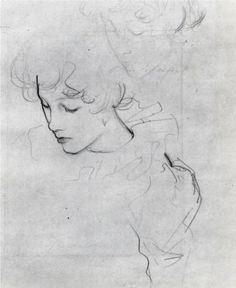 Polly Barnard (also known as study for Carnation, Lily, Lily, Rose) - John Singer Sargent