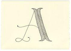 handwritten letters.