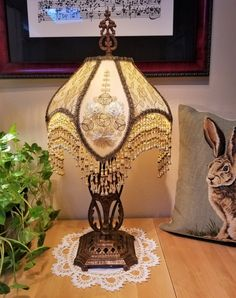 Silk beaded lamps with rare antique textiles. Victorian, Boho and Gothic styles. Victorian Lamps, Antique Lamps, Antique Lighting, Vintage Lamps, Vintage Furniture, Victorian Art, Rare Antique, Antique Gold, Painted Furniture