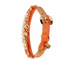 MONALISA Orange Dog Collar