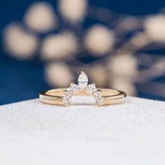 Marquise Diamond Band Gold Unique Wedding Band Women Half Halo Antique Stacking Curve Ring Anniversary Promise Engraving Gift Source by ziqahjun Custom Wedding Rings, Curved Wedding Band, Unique Wedding Bands, Wedding Rings Vintage, Bridal Rings, Diamond Wedding Rings, Diamond Bands, Wedding Gifts, Morganite Engagement