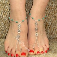 Shoespie - Shoespie Shoespie Beading Thong Anklets - AdoreWe.com
