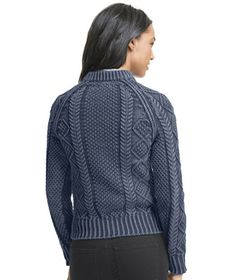 Cotton Fisherman Sweater, Washed: SWEATERS | Free Shipping at L.L.Bean