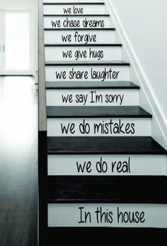 In This House  Decal Sticker Wall Vinyl Art Home Family