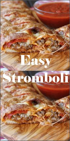 Easy Stromboli - Making this stromboli at home is so easy. The best part is you can customize it with your favorite toppings. Easy Stromboli - Making this stromboli at home is so easy. The best part is you can customize it with your favorite toppings. Salmon Recipes, Lunch Recipes, Appetizer Recipes, Beef Recipes, Dinner Recipes, Cooking Recipes, Health Recipes, Italian Appetizers, Health Foods