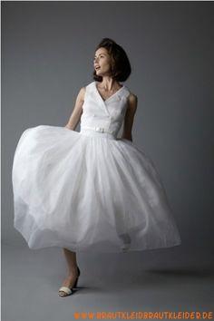 romantisches Brautkleid  aus Tüll  A-Linie