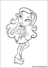 bratz coloring pages on coloring bookinfo - Coloring Book Info