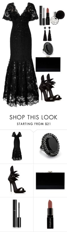 """Untitled #3820"" by natalyasidunova ❤ liked on Polyvore featuring Marchesa, Lane Bryant, Giuseppe Zanotti, Charlotte Olympia, Chanel and Smashbox"