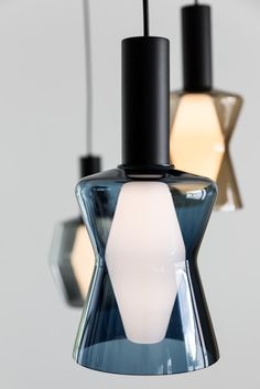 A Geometric Masterpiece - The Design Classic Light Bulb Design with a Coloured Glass Shade - Airam WIR Bulb Pendant Lamp Design by Tapio Wirkkala