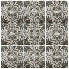Merola Tile Costa Cendra Decor Dahlia 7-3/4 in. x 7-3/4 in. Ceramic Wall and Floor Tile (11.5 sq. ft. / case)-FEB8CCD6 - The Home Depot