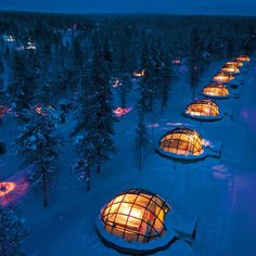 Igloo domes in Norway to watch the Northern Lights!