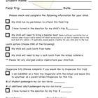 Field Trip Checklist  Classroom Miscellaneous    Field