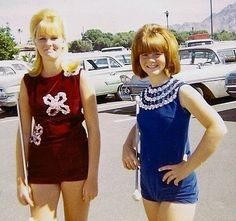 Sisters at Baton Competition, 1968
