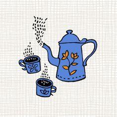 #workinprogress #process #illustration #zelianarte #coffee #coffeepot #café #cozy