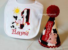 farm birthdaycowboy birthday set cowgirl by Gottagetadiapercake, $15.00
