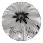 Dahlia Flowers Black & White Photography Classic Round Sticker #gifts #originalgifts