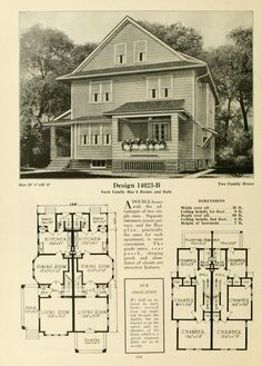 1918 harris bros co kit home catalog plan l 2032 for Kit homes duplex