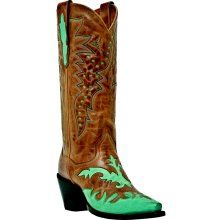 Dan Post Ladies Wyonna Western Boots - Saddle Tan