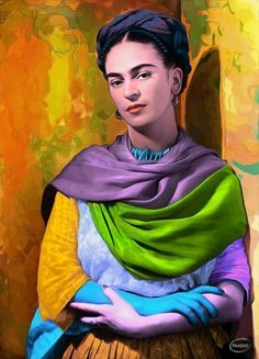 Frida Kahlo 🌸🌺🇲🇽🎨💋 discovered by  ❁ℒᗩᘎᖇᗩ on We Heart It Diego Rivera, Frida E Diego, Frida Art, Fridah Kahlo, Frida Paintings, Frida Kahlo Portraits, Mexican Artists, Collaborative Art, Famous Artists