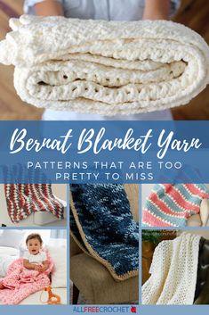 Free Crochet Afghan Patterns 16 Bernat Blanket Yarn Patterns That Are Too Pretty to Miss Bernat Baby Blanket, Blanket Yarn, Baby Blanket Crochet, Crochet Yarn, Crochet Blankets, Baby Blankets, Chevron Blanket, Crotchet, Crochet Stitches