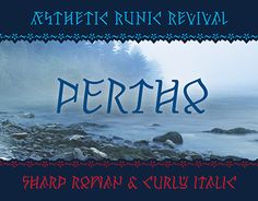 Pertho, an all-caps slab serif font inspired by runes of Futhark http://be.net/gallery/55498281/Pertho-Font