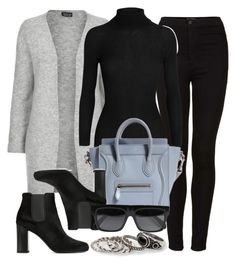 """""""Style #9474"""" by vany-alvarado ❤ liked on Polyvore featuring Topshop, Gucci, Yves Saint Laurent, CÉLINE and MANGO"""