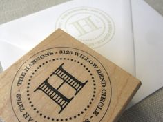 Personalized maple stamp {sincerely yours paper}