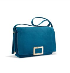 The everyday essential: #RogerVivier Ines shoulder bag in an electric blue