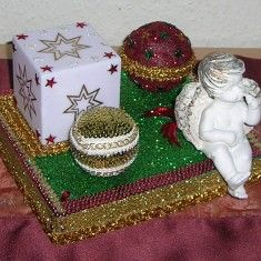Ausgefallene Weihnachtsdekoration mit Beleuchtung für Sie selbst oder zum Verschenken. Ein in liebevoller Handarbeit gefertigtes Unikat von mir entworfen und gestaltet!