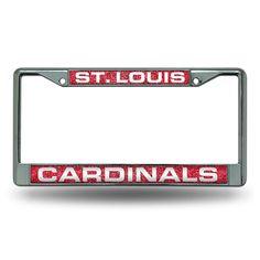 St. Louis Cardinals MLB Bling Glitter Chrome License Plate Frame