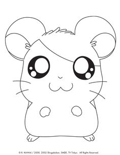 Pin By Marjolaine Grange On Coloriage Hamtaro