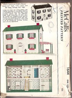 McCalls 1644 Early American Doll House Pattern by nancesnostalgia, $45.00 #vintage_pattern