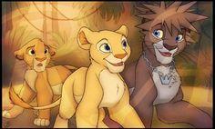 Sora Lion Form & Nala. Poor Simba...